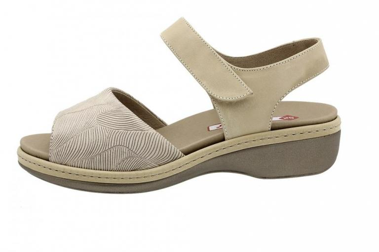Removable Insole Sandal Beige Leather 190807
