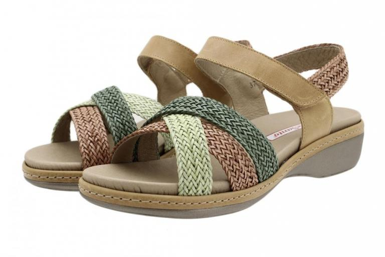 Removable Insole Sandal Jade-Tan-Green Interlaced 190809