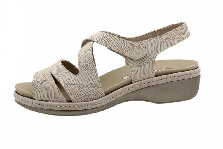 Removable Insole Sandal Beige Leather 190812