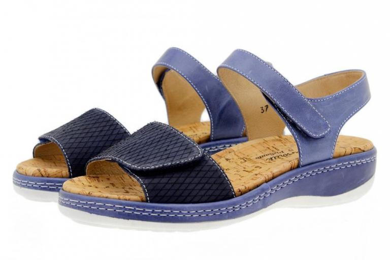 Removable Insole Sandal Print Blue