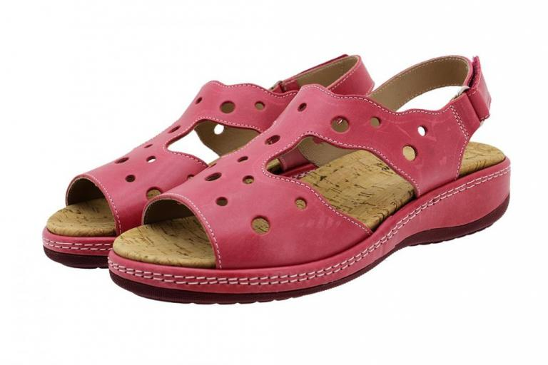 Removable Insole Sandal Red Leather 190905