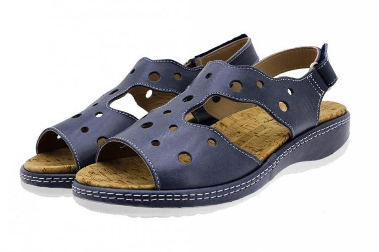 Removable Insole Sandal Blue Leather 190905