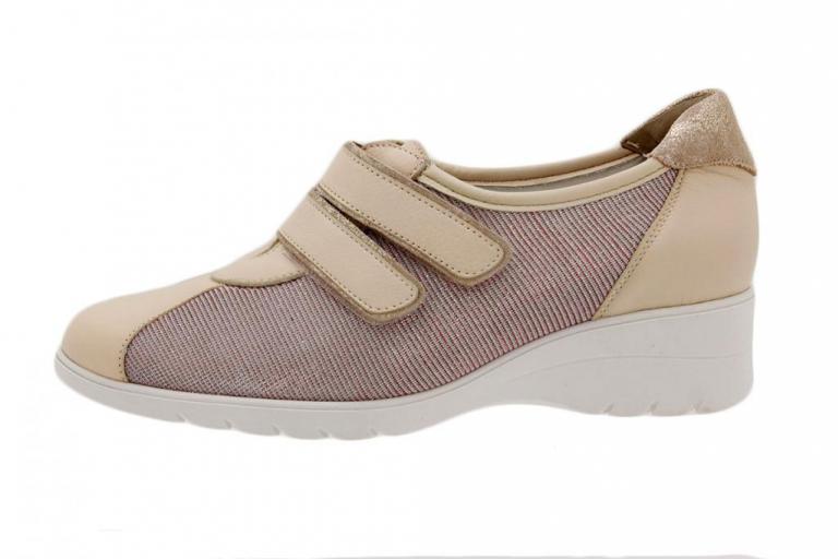 Velcro Shoe Nude Leather
