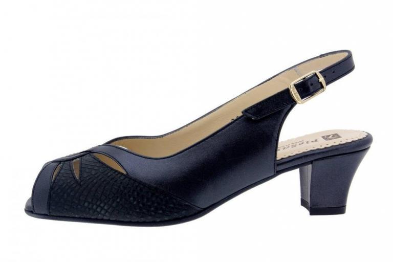 Heel Sandal Pearly-Snake Black 4015