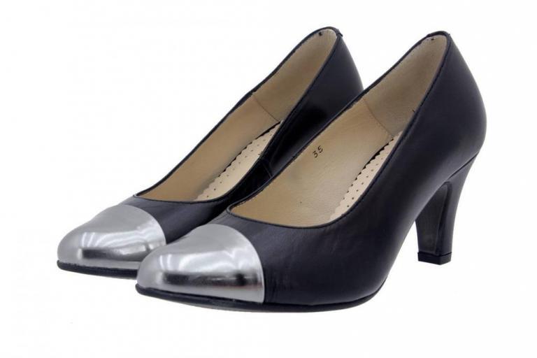 Court shoe Leather Black 4203