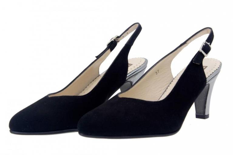 Court shoe Suede Black 4210