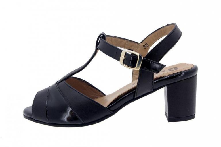 Heel Sandal Leather Black 4494