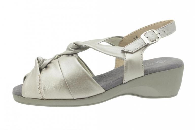 Wegde Sandal Pearly Titanium 4581