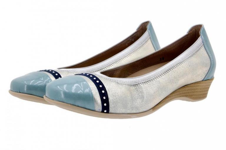 Flat shoe Patent Aqua 4726