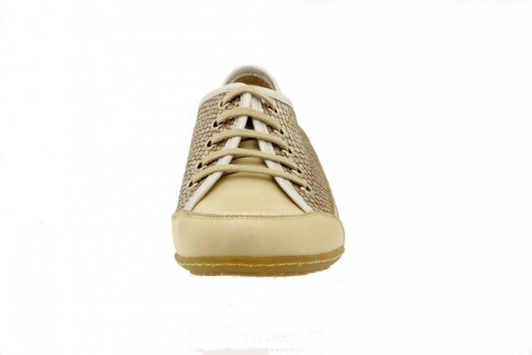 Tie shoe Leather Beige 4751