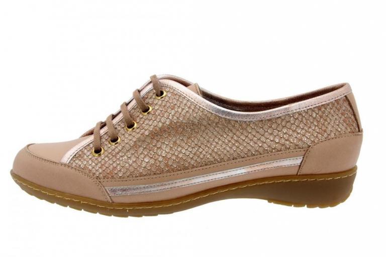 Tie shoe Leather Nude 4751