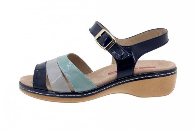 Removable Insole Sandal Patent Blue 4811