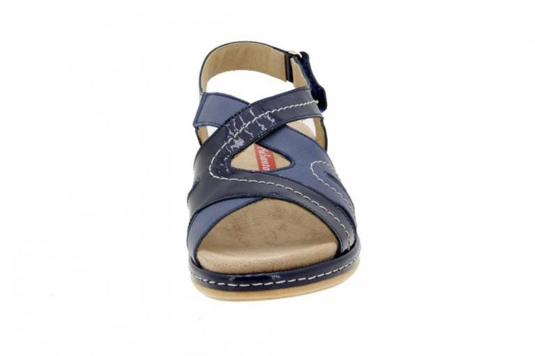 Removable Insole Sandal Patent Blue 4813