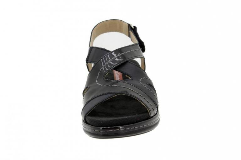 Removable Insole Sandal Patent Black 4813
