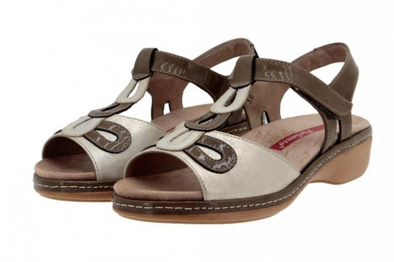 Removable Insole Sandal Patent Taupe 4820