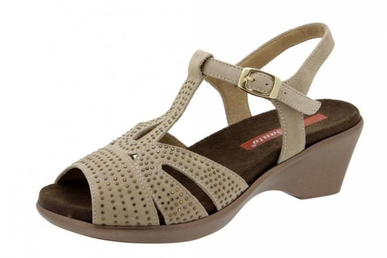 Removable Insole Sandal Suede Taupe 4863