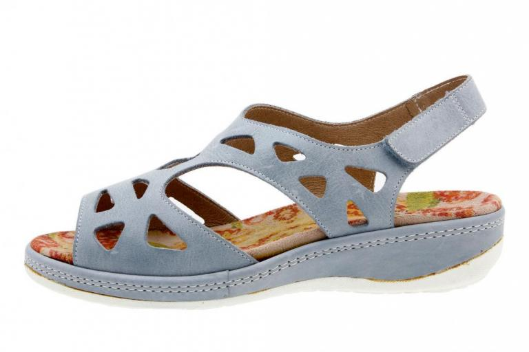 Removable Insole Sandal Leather Aqua 4905