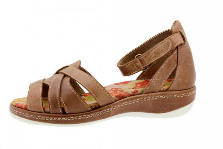 Removable Insole Sandal Leather Coffee