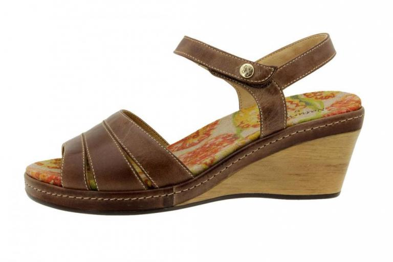Removable Insole Sandal Coffee Leather