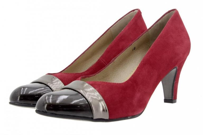Court shoe Patent Brown-Red 5204