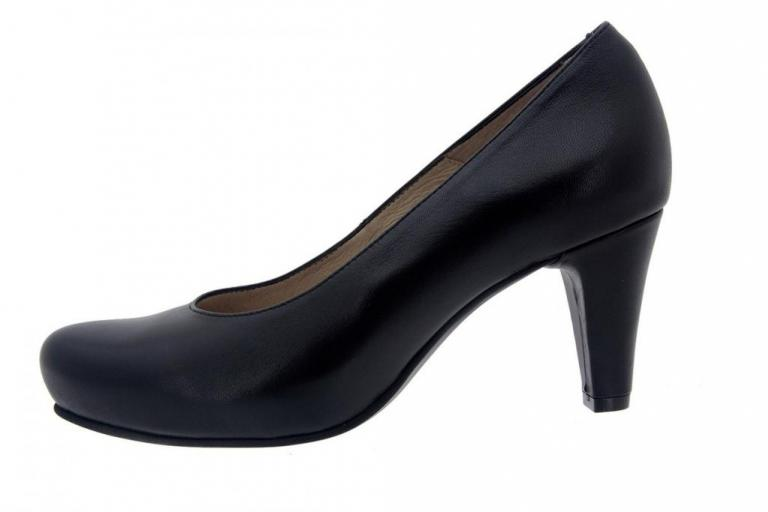 Court shoe Leather Black 5225