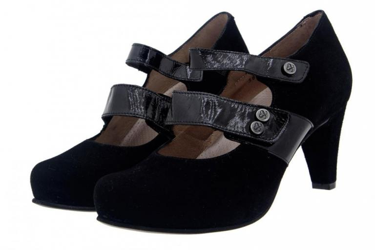 Mary-Jane Suede Black 5228