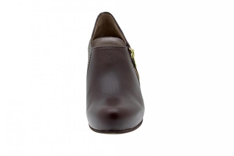 Bootee shoe Leather Brown 5233
