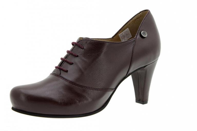 Tie shoe Leather Bordeaux 5234