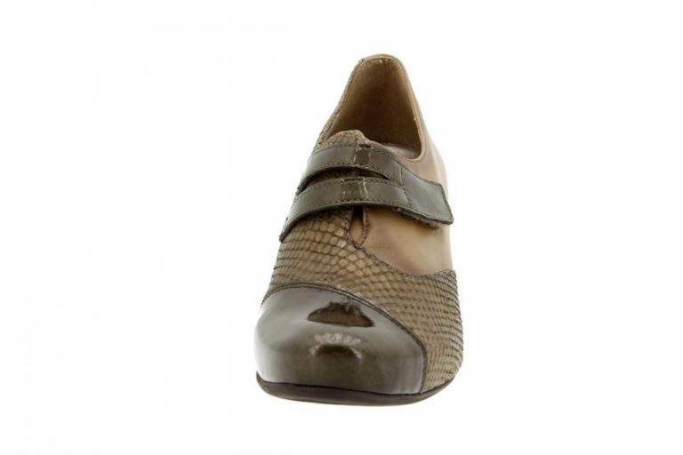 Velcro shoe Patent Taupe 5406