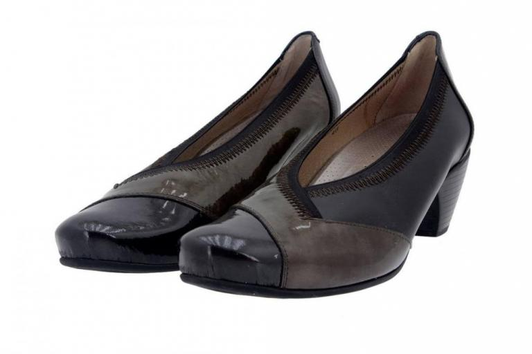 Court shoe Patent Grey 5408