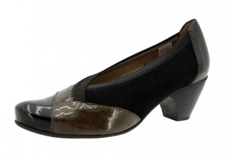 Court shoe Patent-Suede Grey 5408