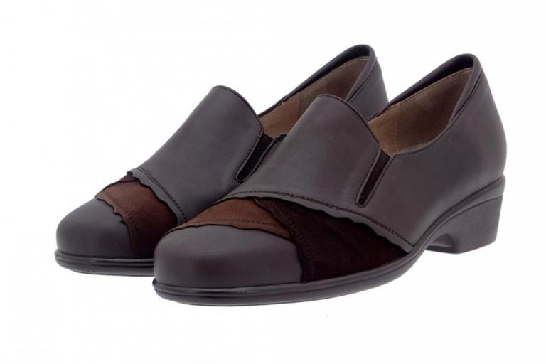 Bootee shoe Leather Brown 5606