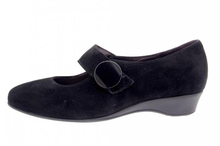 Mary-Jane Suede Black 5726