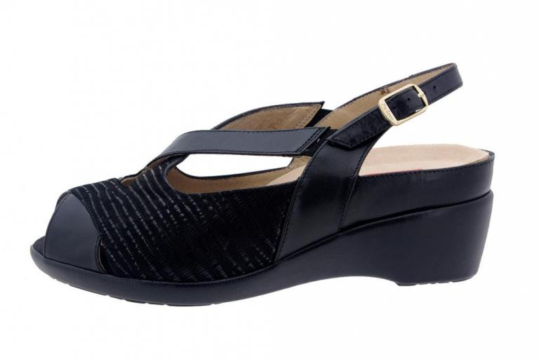 Removable Insole Sandal Leather Black 6154
