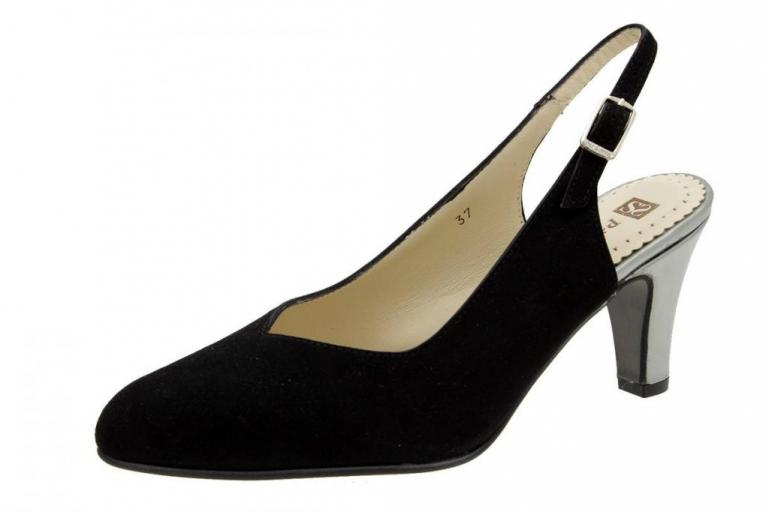 Court shoe Suede Black 6210