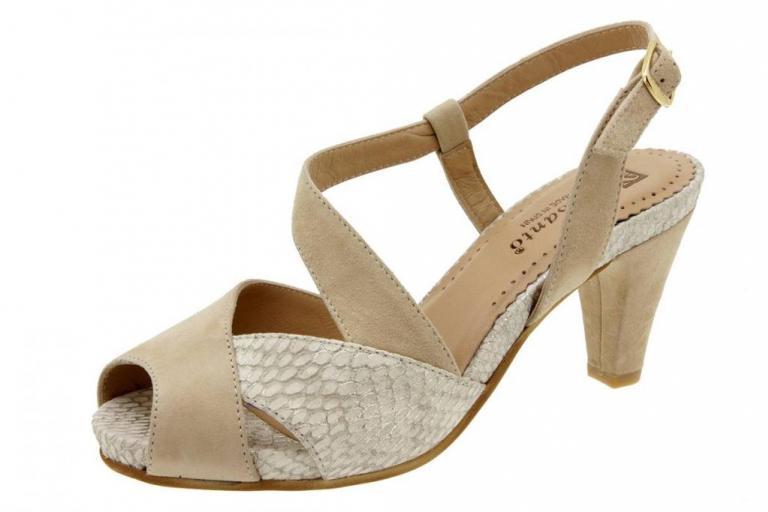 Heel Sandal Suede Beige 6256