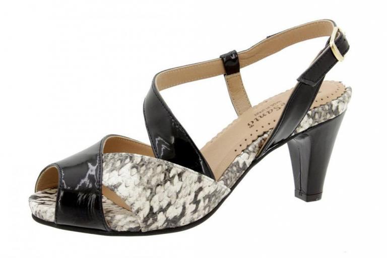 Heel Sandal Patent Black 6256