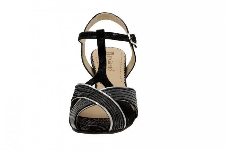Heel Sandal Print Black 6258
