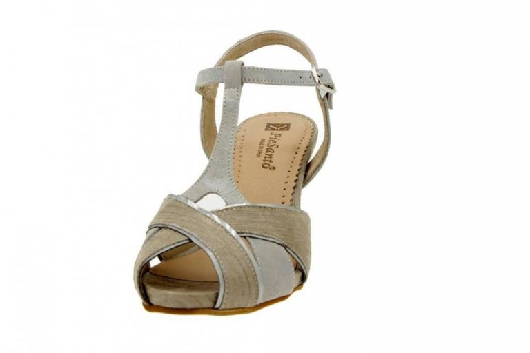 Heel Sandal Print Mink 6258