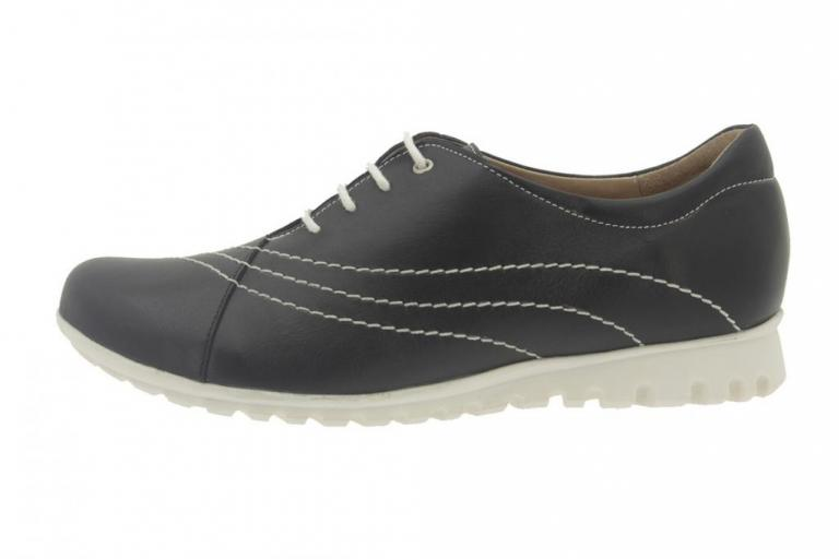 Sneaker Leather Black 6526