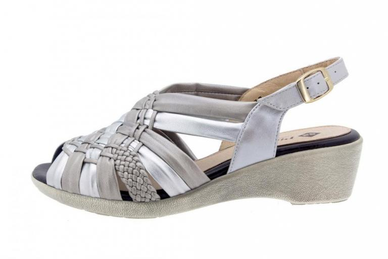 Wegde Sandal Tubular Titanium-Grey 6562