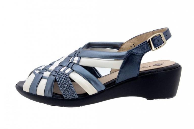 Wegde Sandal Tubular Titanium-Blue 6562