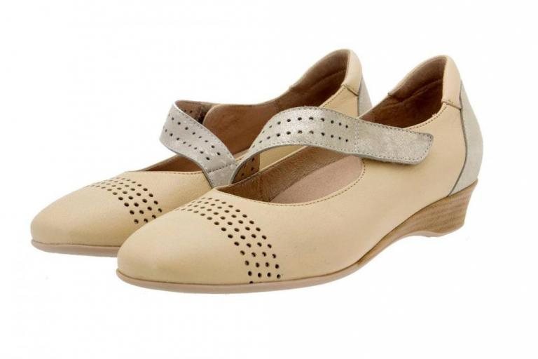 Mary-Jane Leather Cream 6727