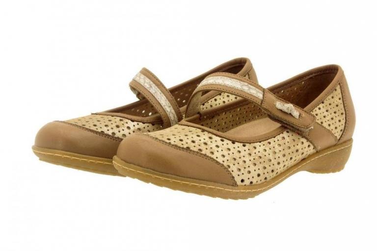 Mary-Jane Leather Sand 6756