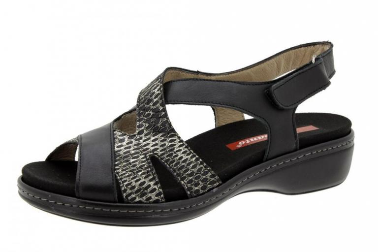 Removable Insole Sandal Leather Black 6813