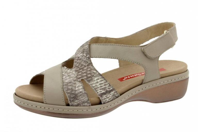 Removable Insole Sandal Leather Mink 6813
