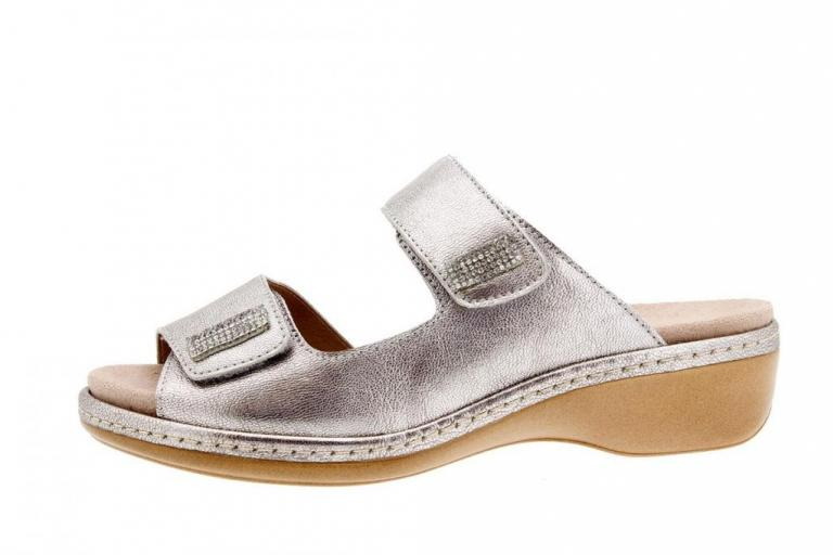 Removable Insole Sandal Pearly Silver 6819