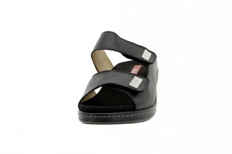 Removable Insole Sandal Leather Black 6819