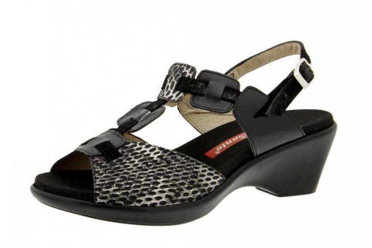 Removable Insole Sandal Patent Black 6853