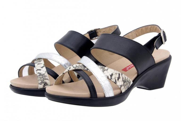 Removable Insole Sandal Leather Black 6859